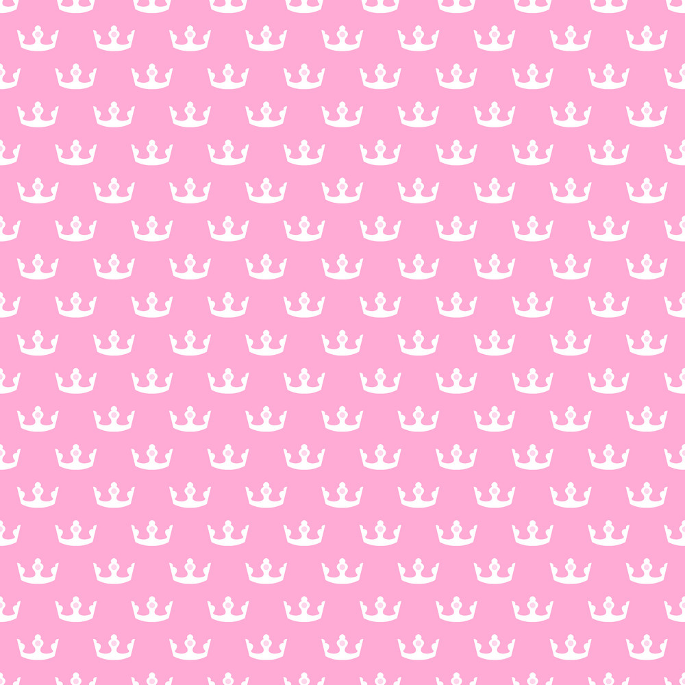 Princess Pink And White Crowns Pattern Royalty Free Stock Image