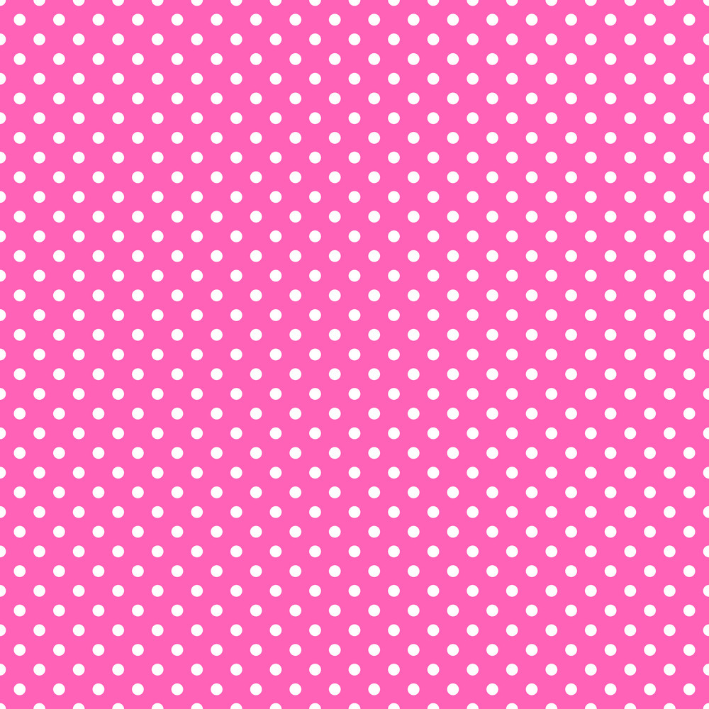 White Polka Dots Pattern On A Princess Pink Background