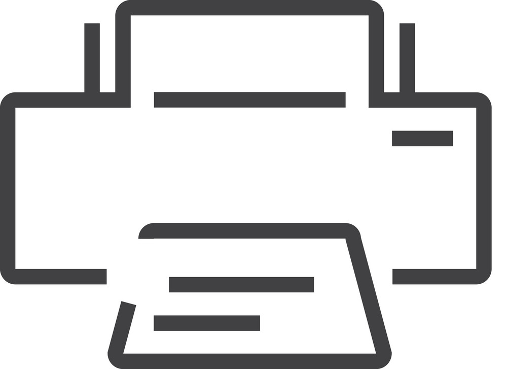 Print Minimal Icon