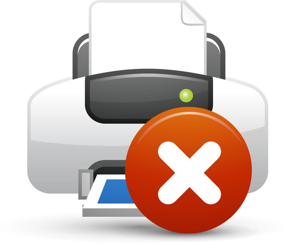 Printer Blue Delete Lite Computer Icon