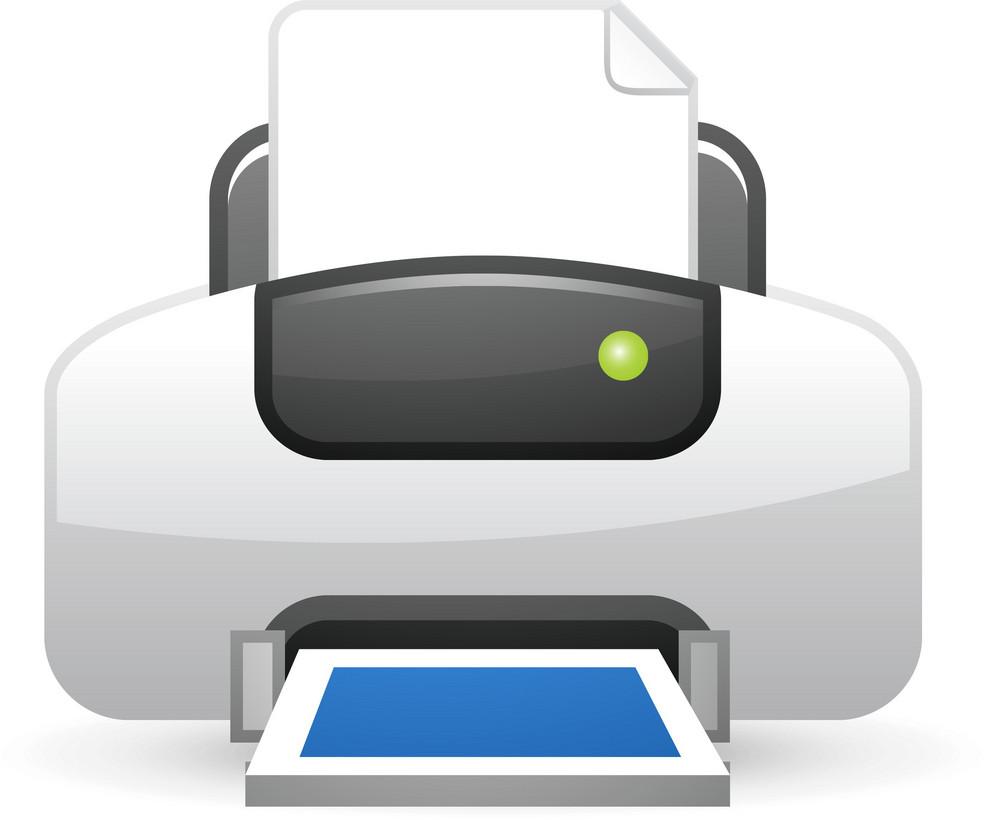 Printer Blue Lite Computer Icon