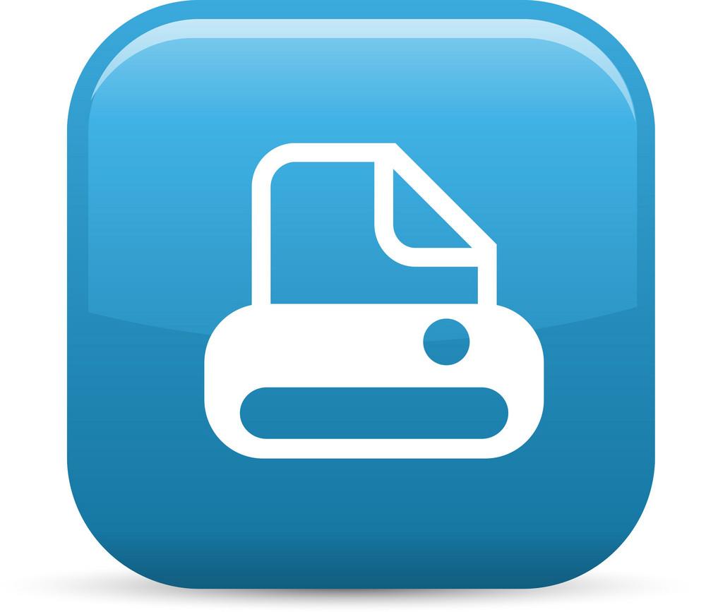 Printer Elements Glossy Icon
