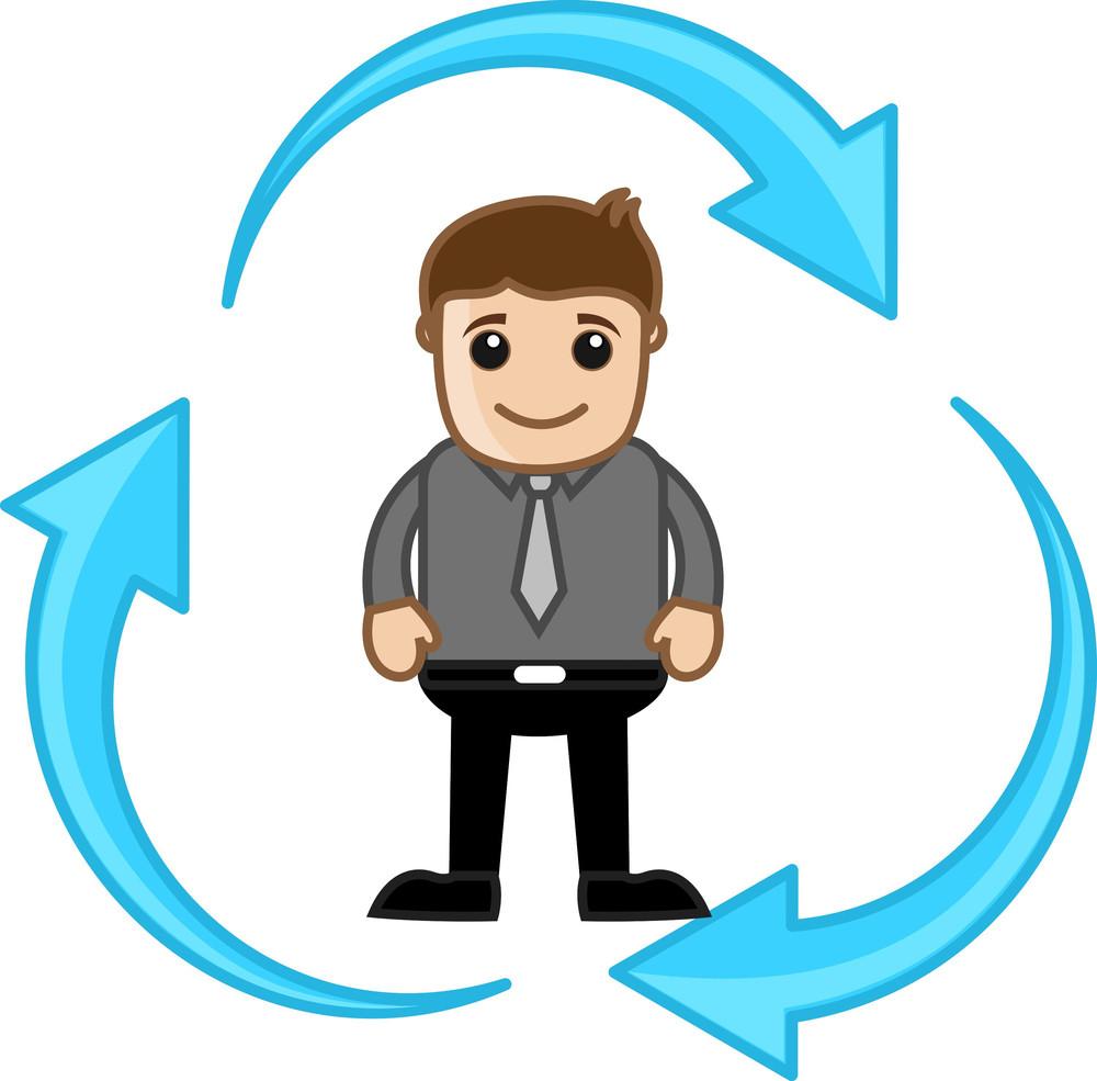 Process - Vector Character Illustration