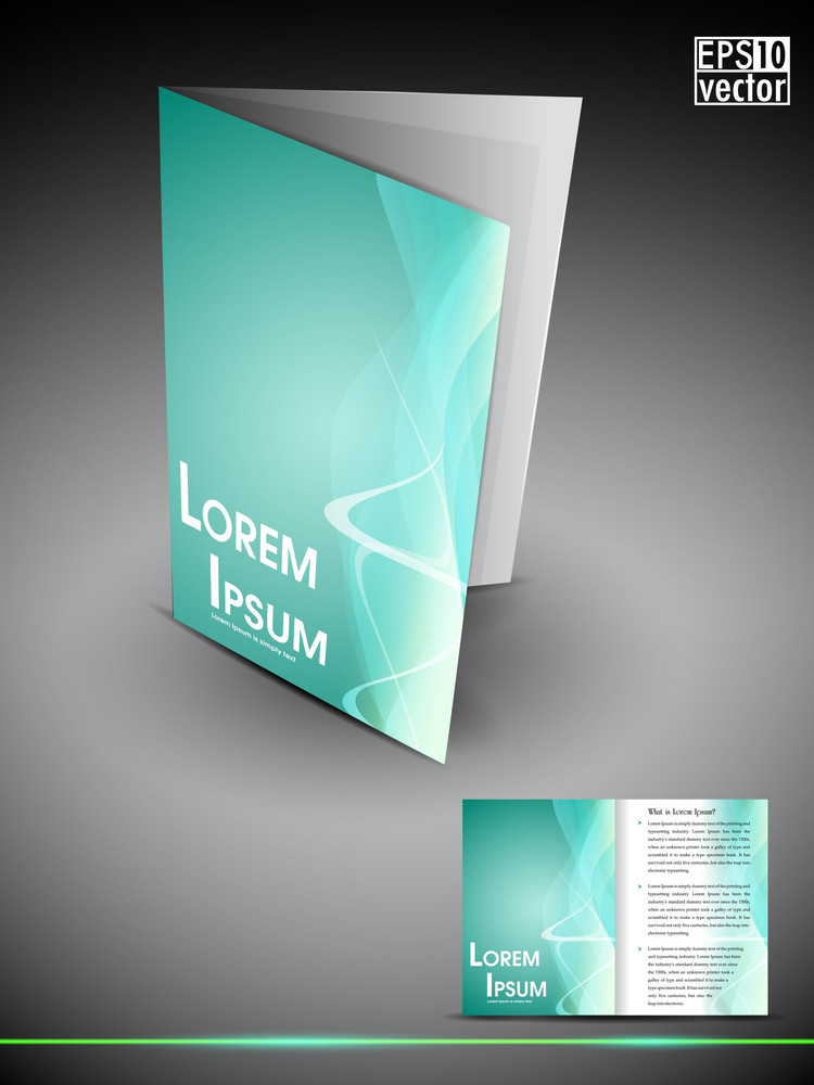 Professional 3d Business Flyer Template Or Corporate Brochure Or Cover Design On Creative Abstract Pattern With Inner Pages For Publishing