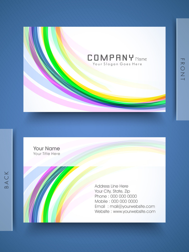 Professional And Designer Business Card Set Or Visiting Card