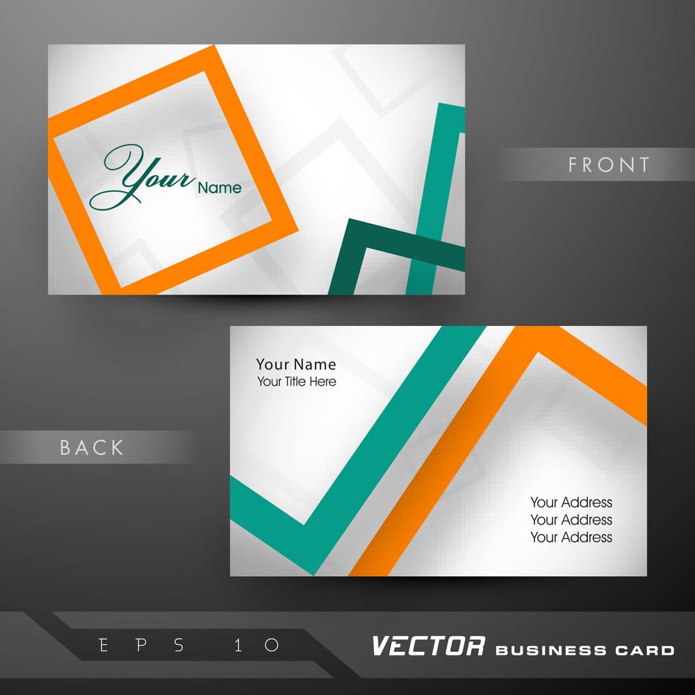 Professional And Designer Business Card Set Or Visiting Card Set ...