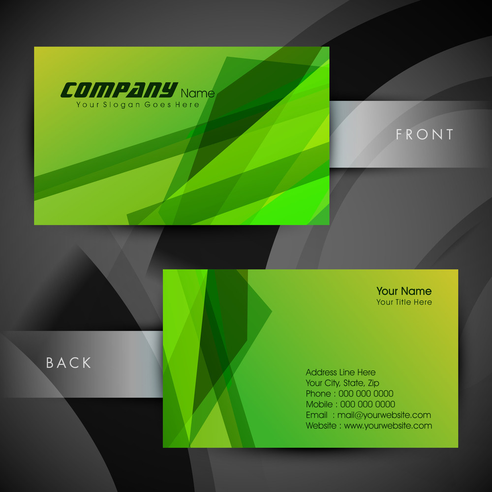 Professional And Designer Business Card Set Or Visiting Card Set. Eps 10