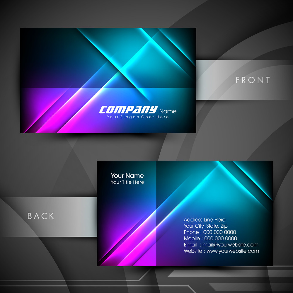 Professional And Designer Business Card Set Or Visiting Card Set. Eps 10