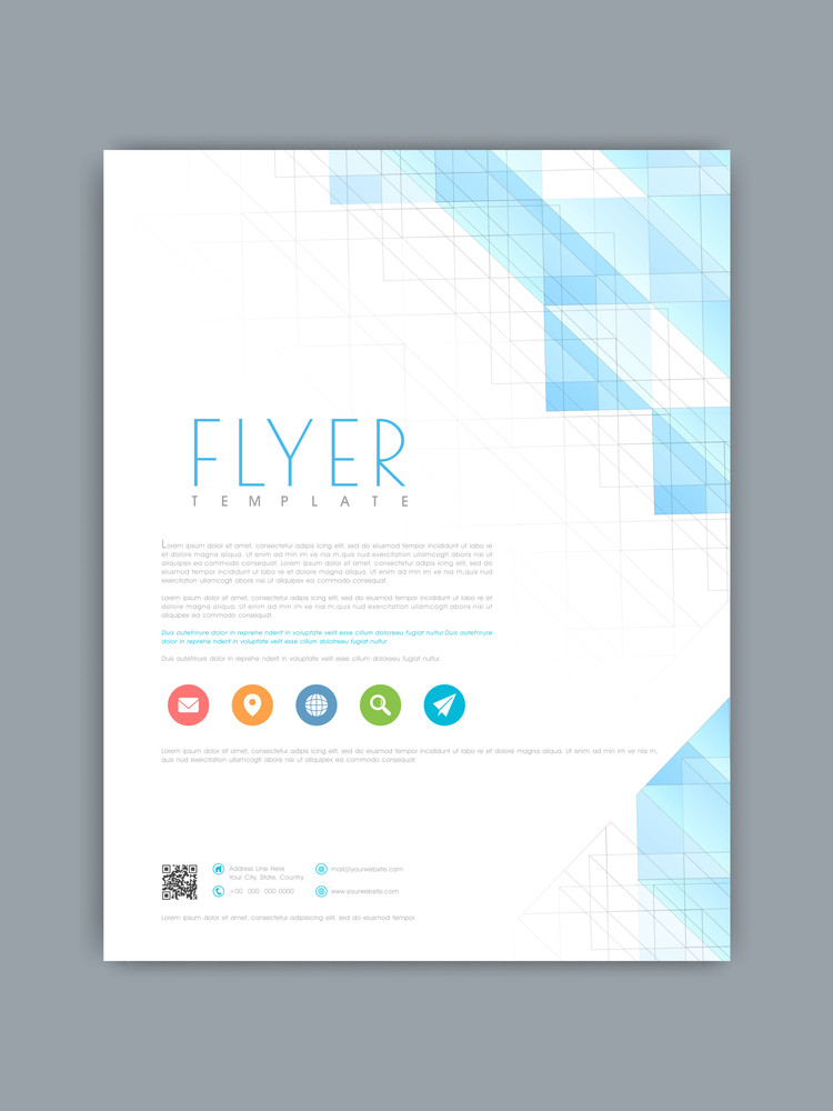 professional business flyer brochure or template with creative