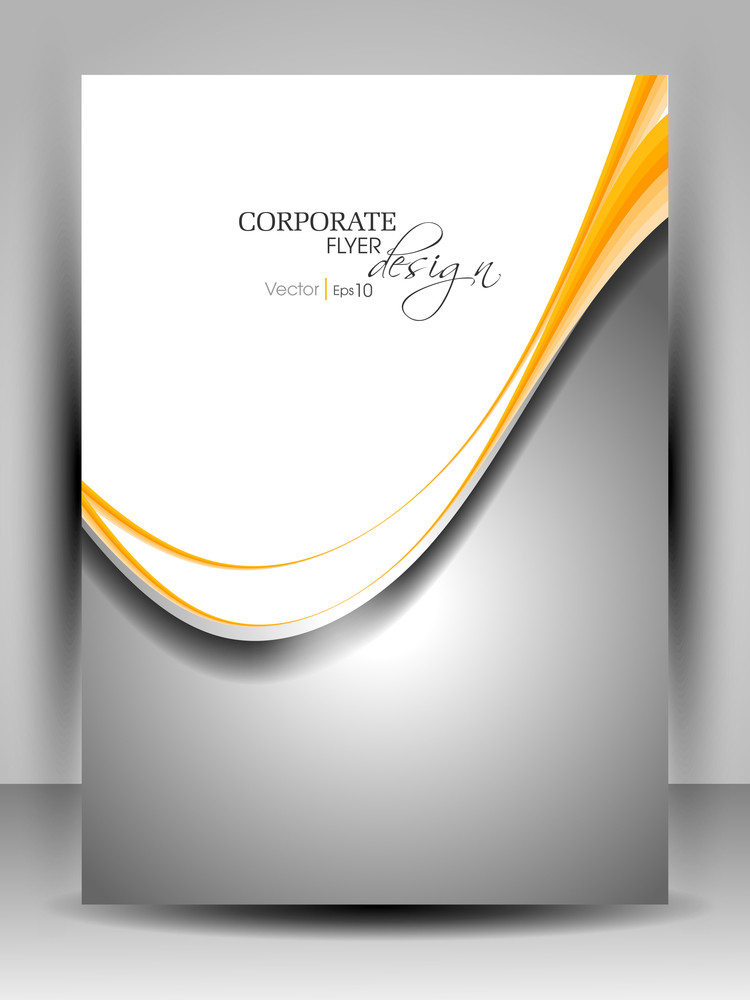 Professional Business Flyer Design With Abstract Wave