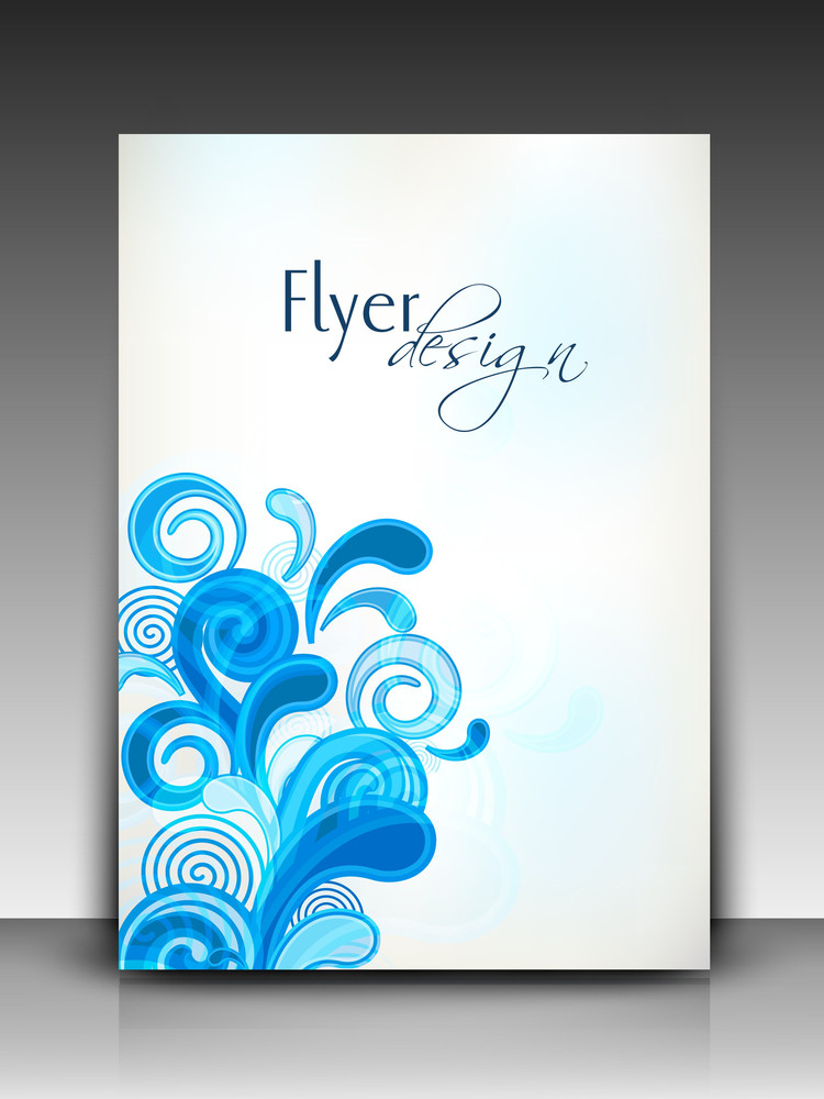 Professional Business Flyer Template Or Corporate Banner With Floral Pattern For Publishing