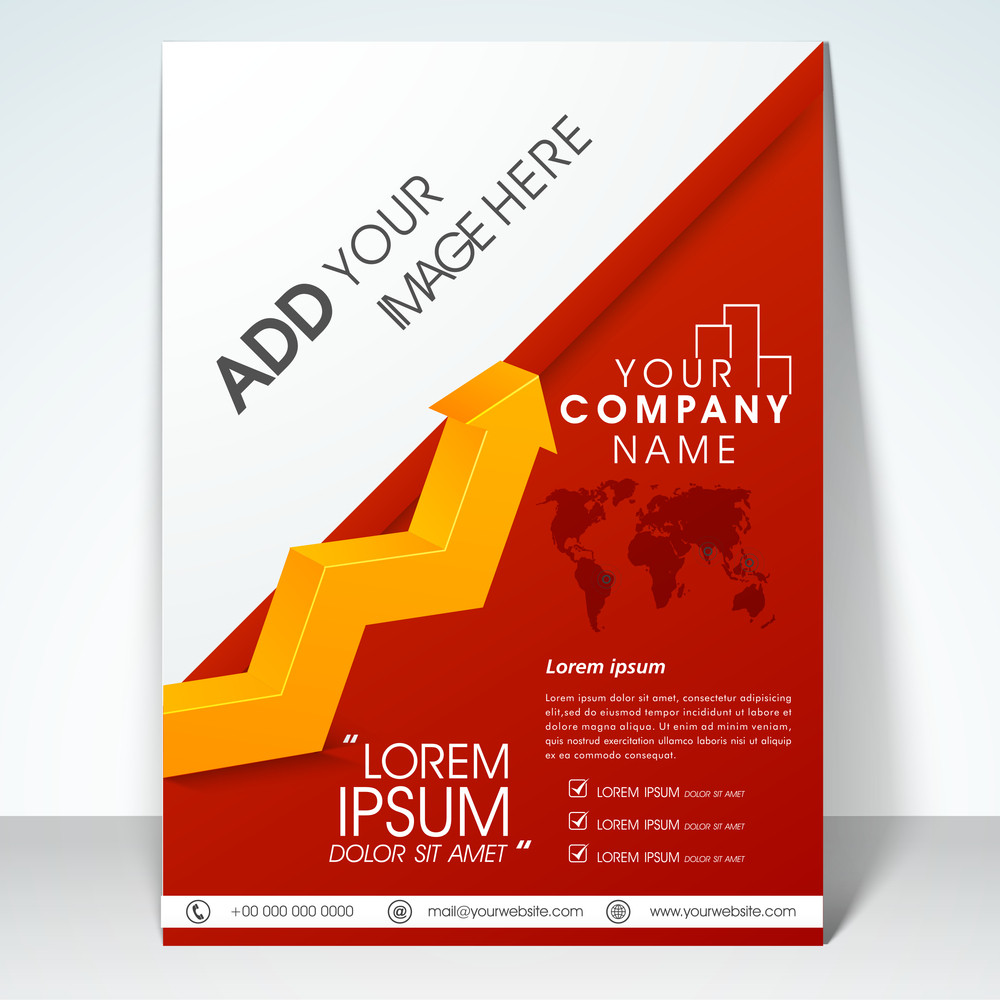 Professional Business Infographic Flyer Banner Or Template With 3d