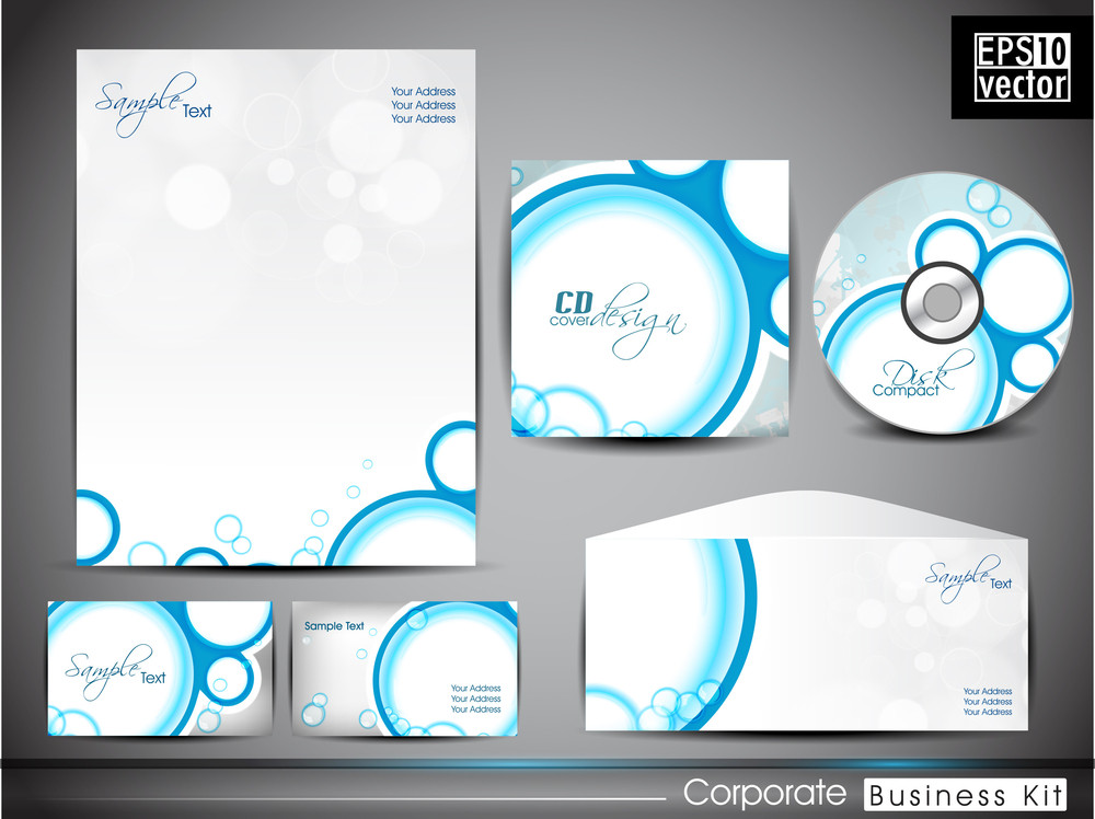 Professional Corporate Identity Kit Or Business Kit With Abstract Pattern Design.