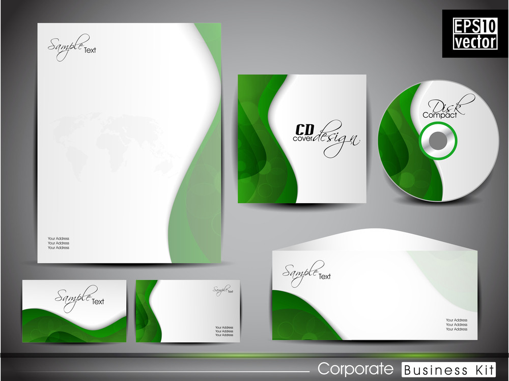 Professional Corporate Identity Kit Or Business Kit With Artistic