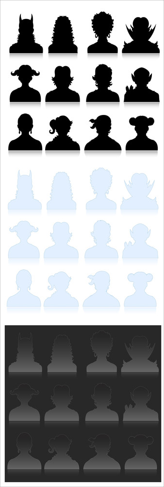 Profile Icon Vector Set