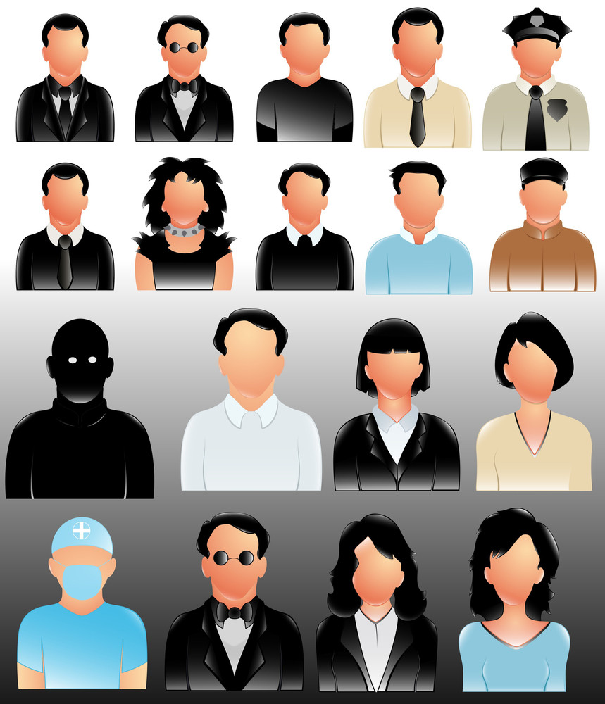 Profile People Icons Vectors