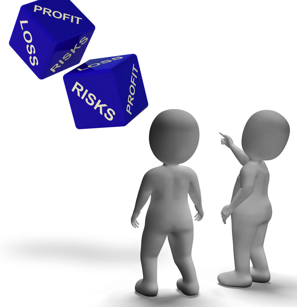 Profit Loss Dice Shows Returns For Business