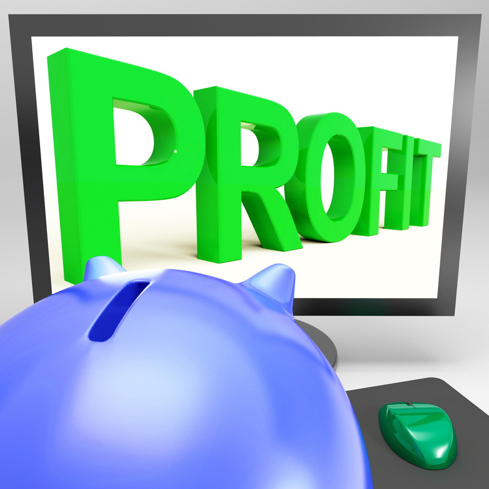 Profit On Monitor Shows Successful Business