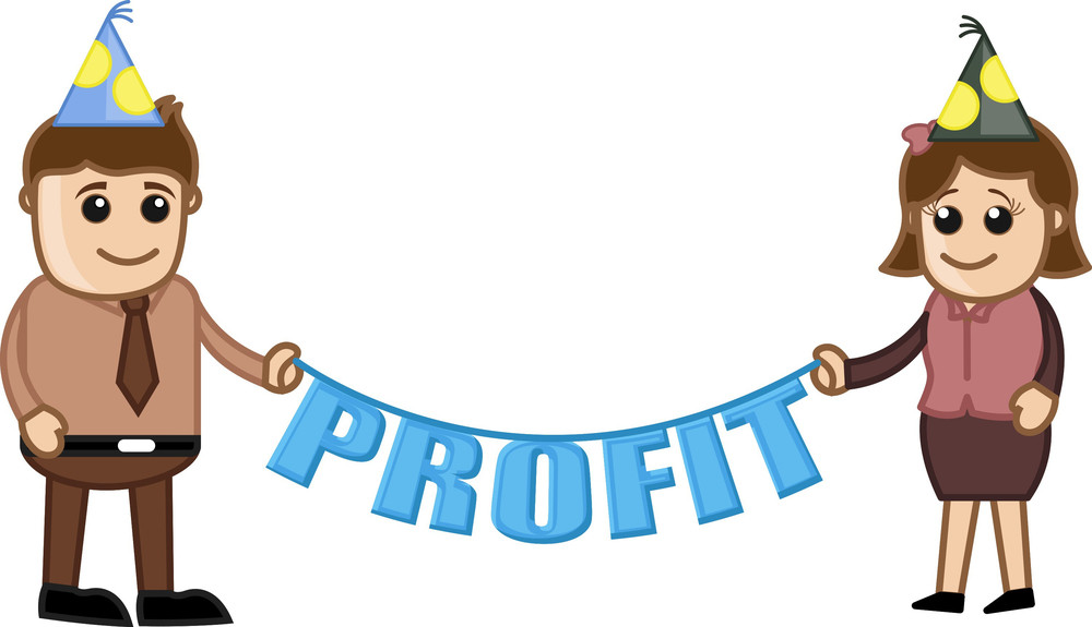 Profit Party - Cartoon Business Characters