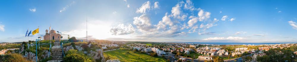 Profitis Elias Church And Panoramic View Of Protaras