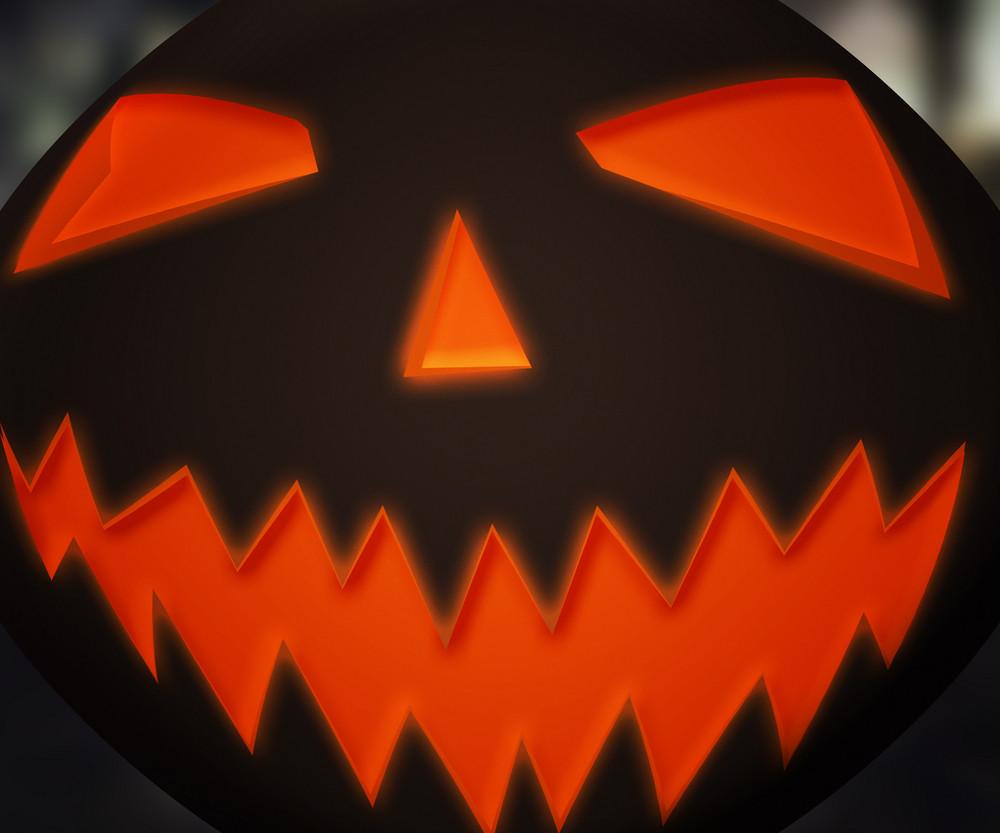 Pumpkin Face Background