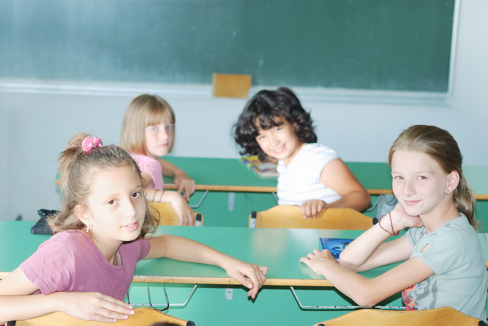 Pupil activities in the classroom at school