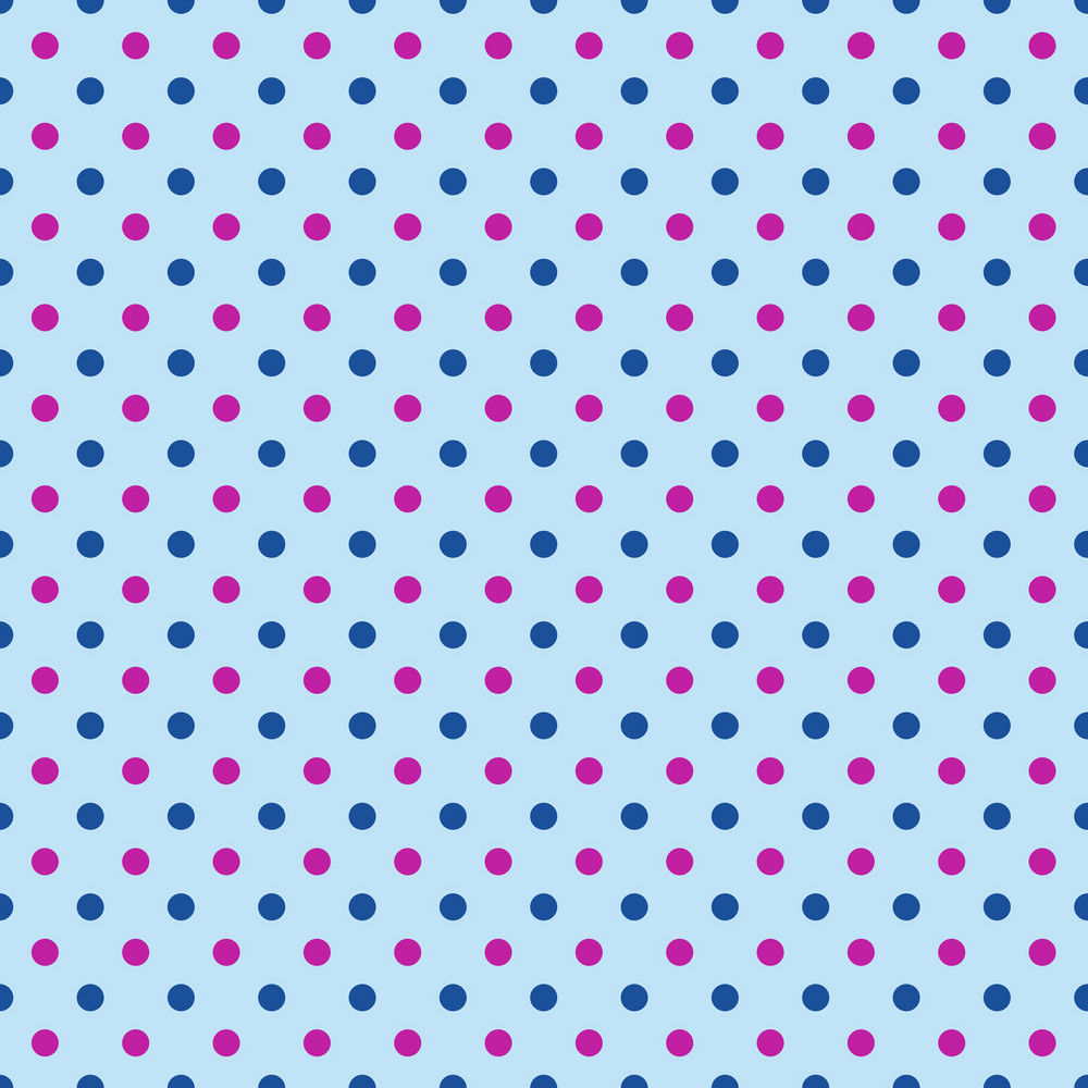 Purple And Blue Polka Dot Pattern On Blue Frozen Inspired Paper
