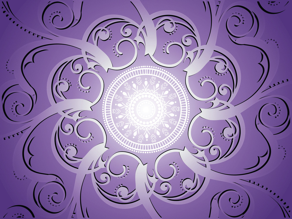 Purple Background With Artwork