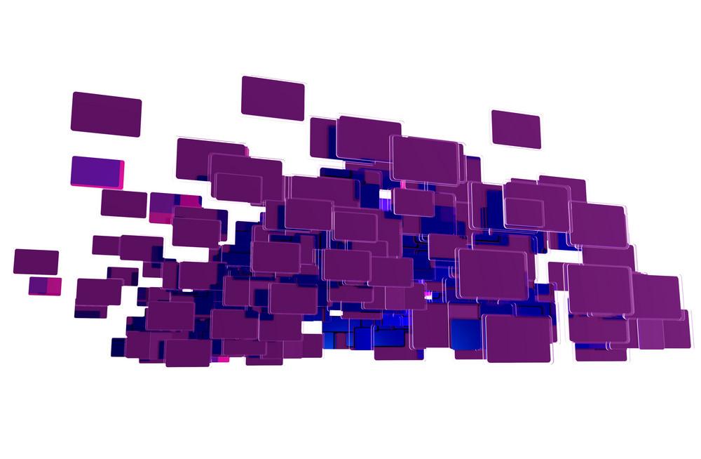 Purple Blue Objects