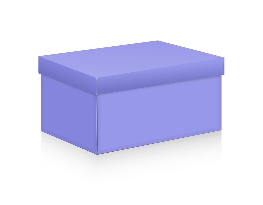 Purple Box Vector Shape