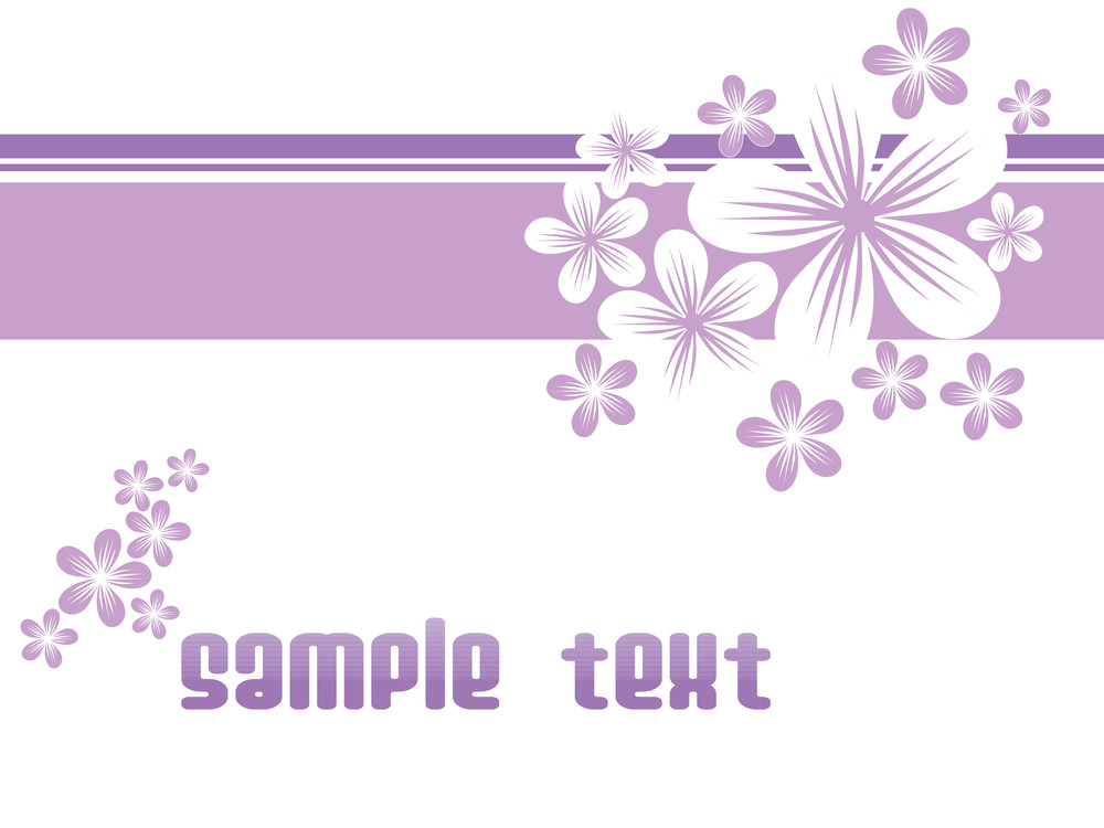 Purple Floral With White Background