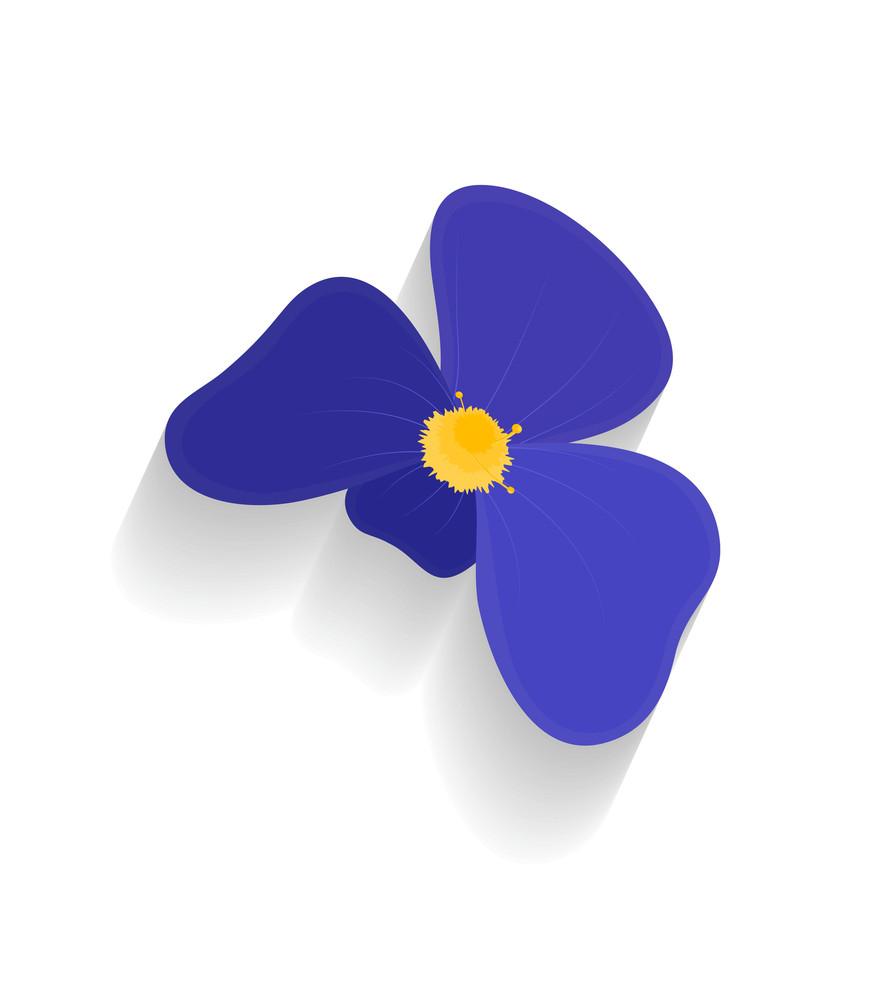 Purple Flower Vector