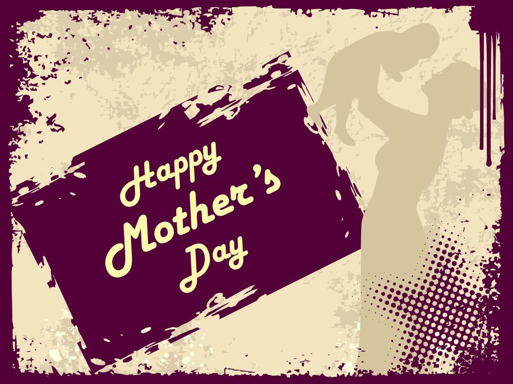 Purple Grunge Mother Day Background
