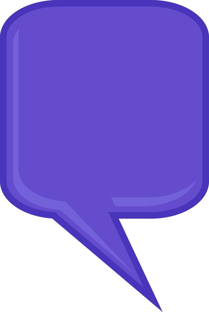 Purple Speech Bubble