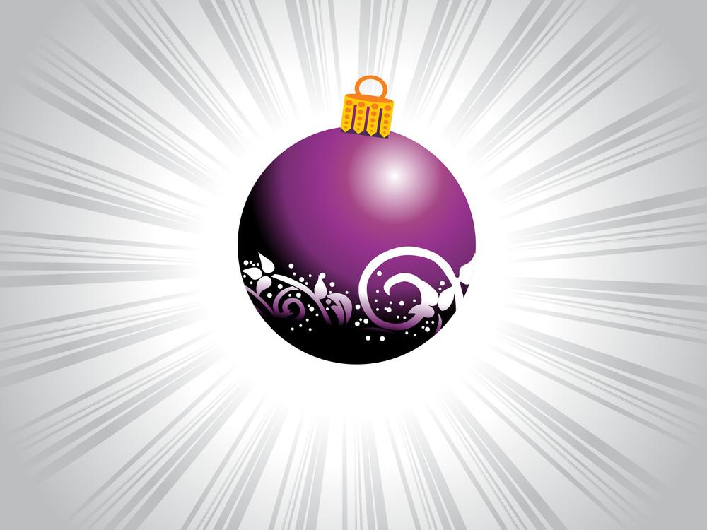 Purple Swirl Light Bulb