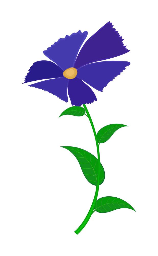 Purple Vector Flower Design