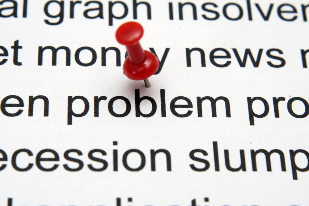 Push Pin On Problem Text