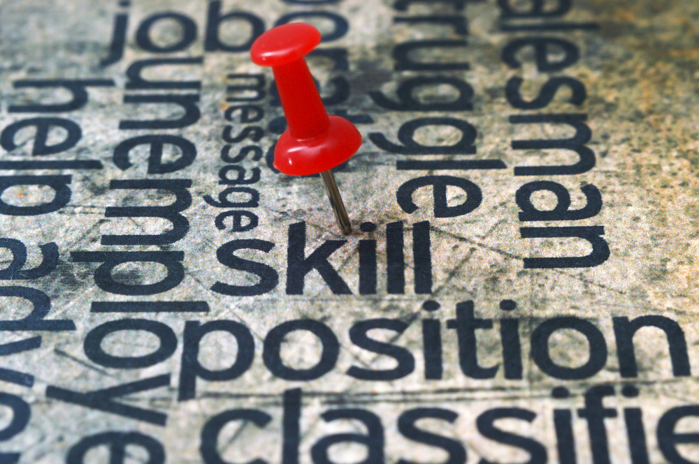 Push Pin On Skill Text