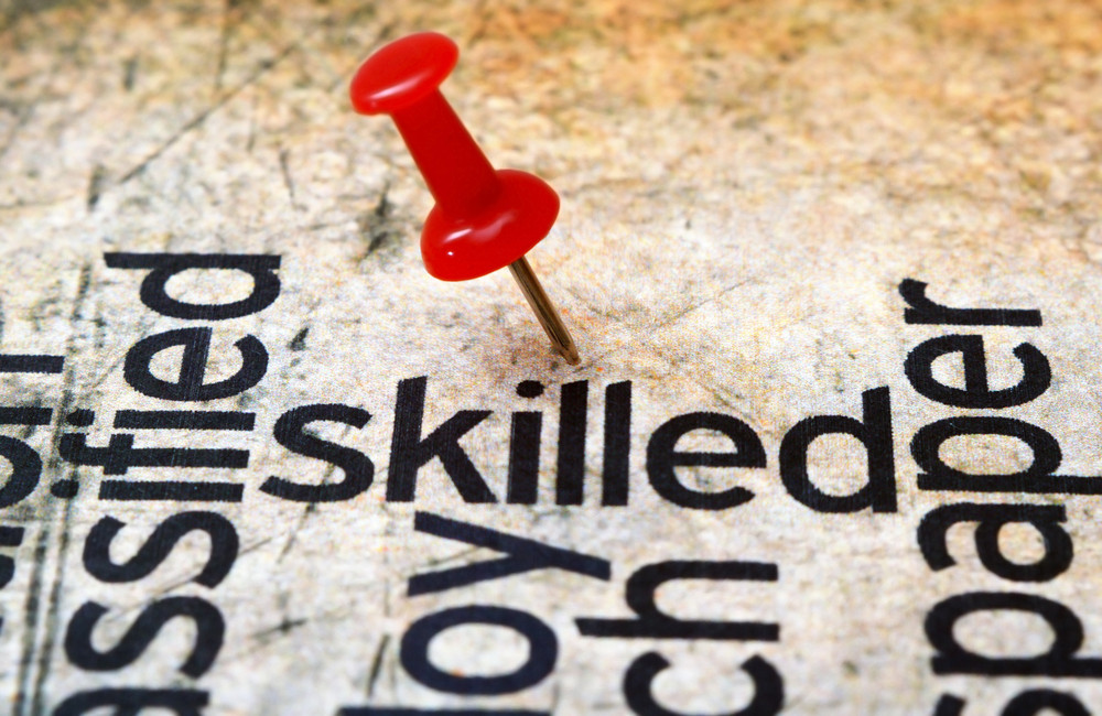 Push Pin On Skilled Text