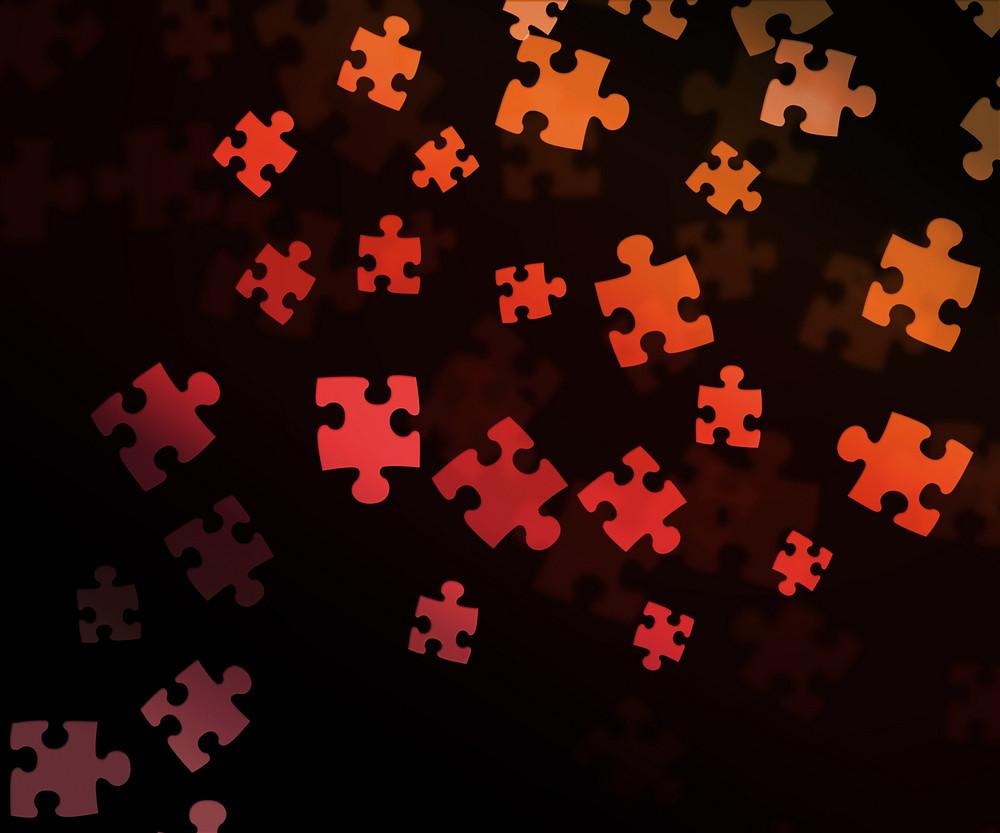 Puzzle Black Background