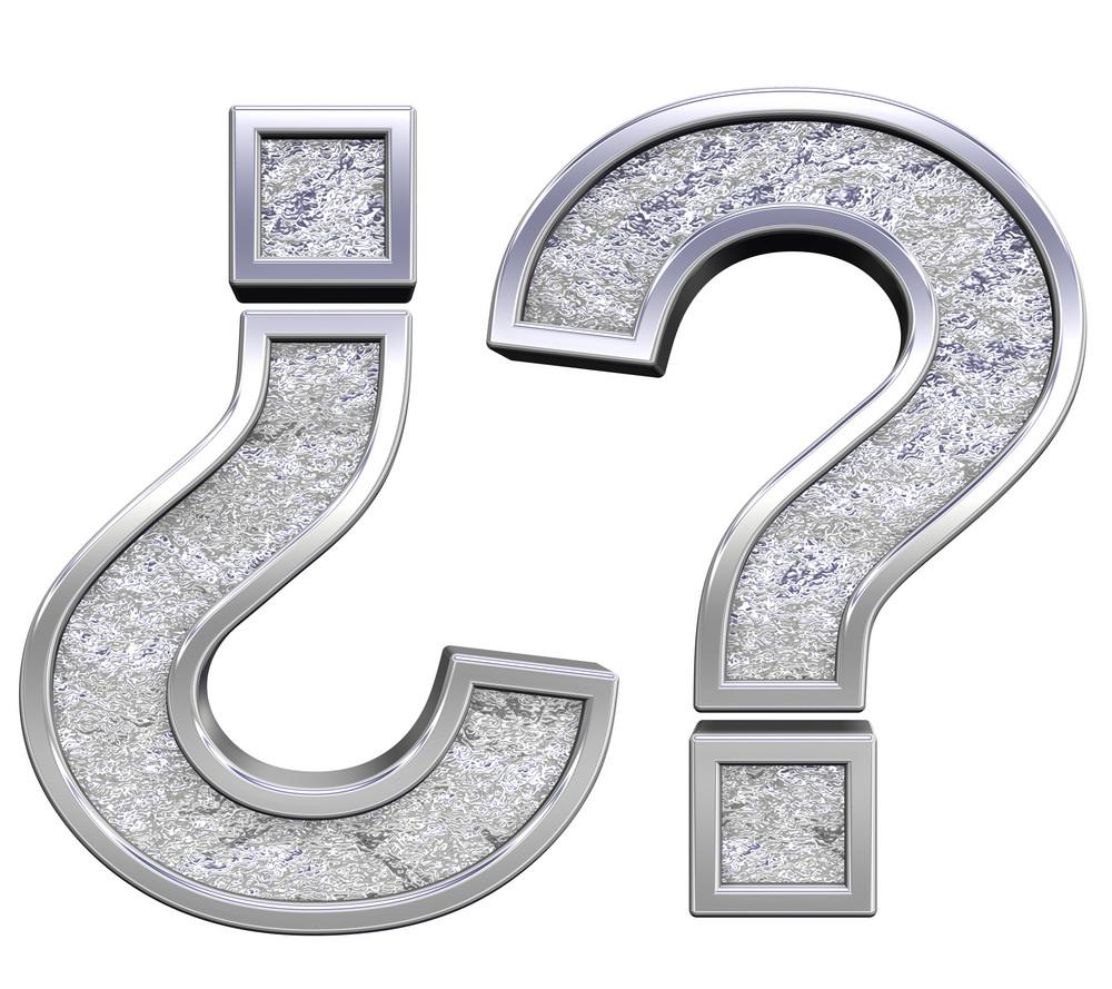 Question Mark From Chrome Cast Alphabet Set
