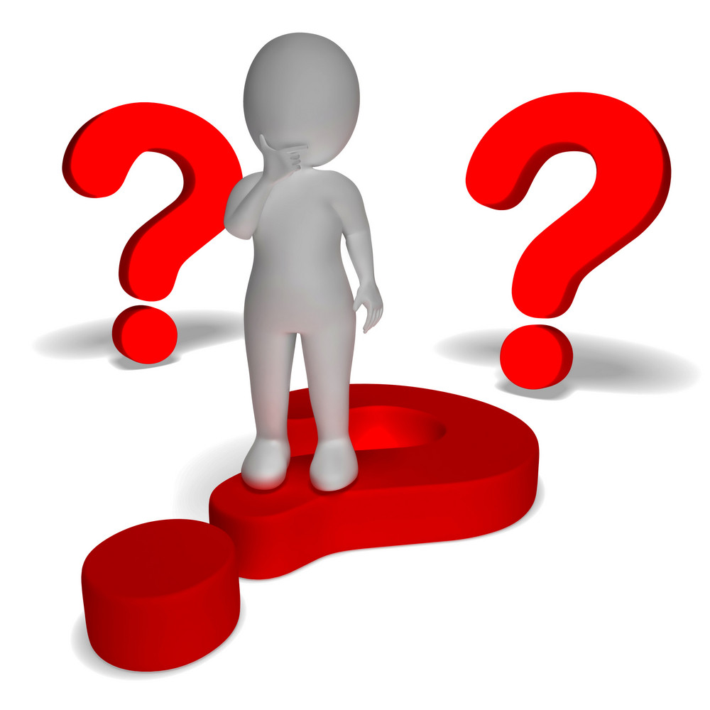 Question Marks Around Man Shows Confusion And Unsure