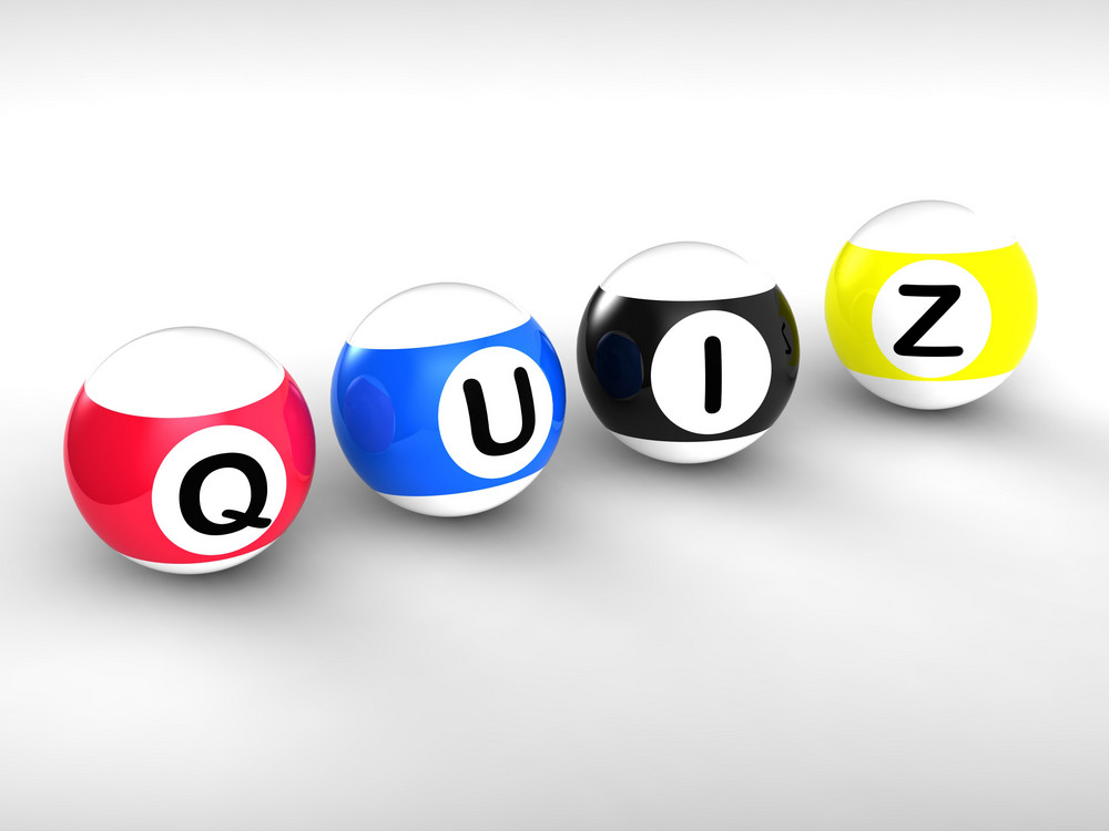 Quiz Word Showing Test Or Quizzing