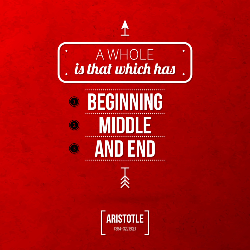 """Quote Typographical Background """"a Whole Is That Which Has Beginning"""