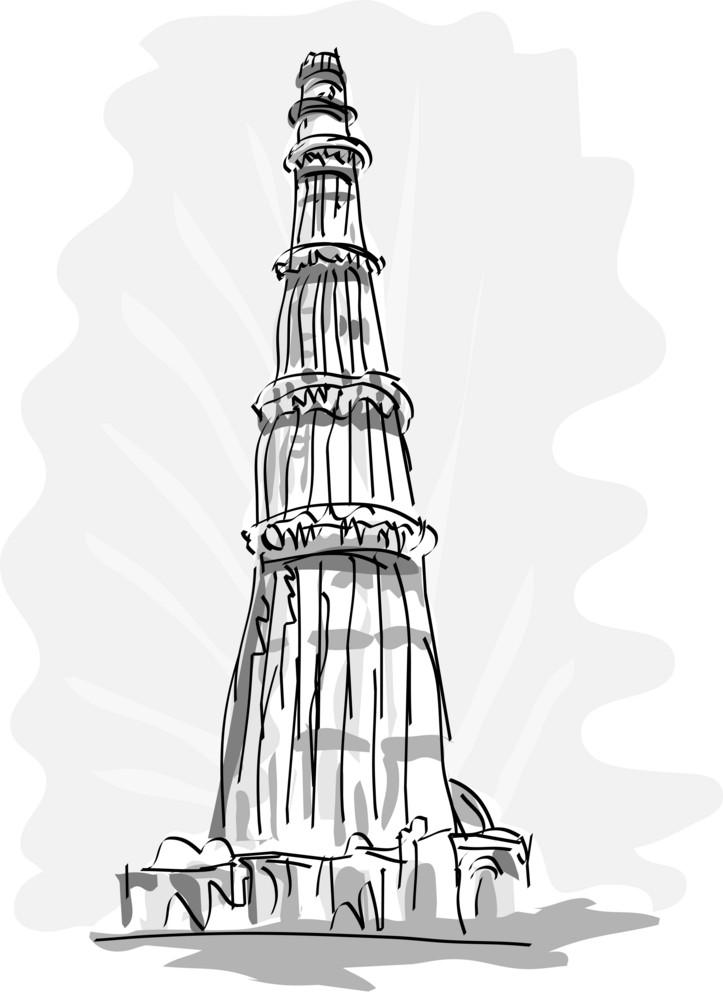 Qutub Minara Tower Delhi India
