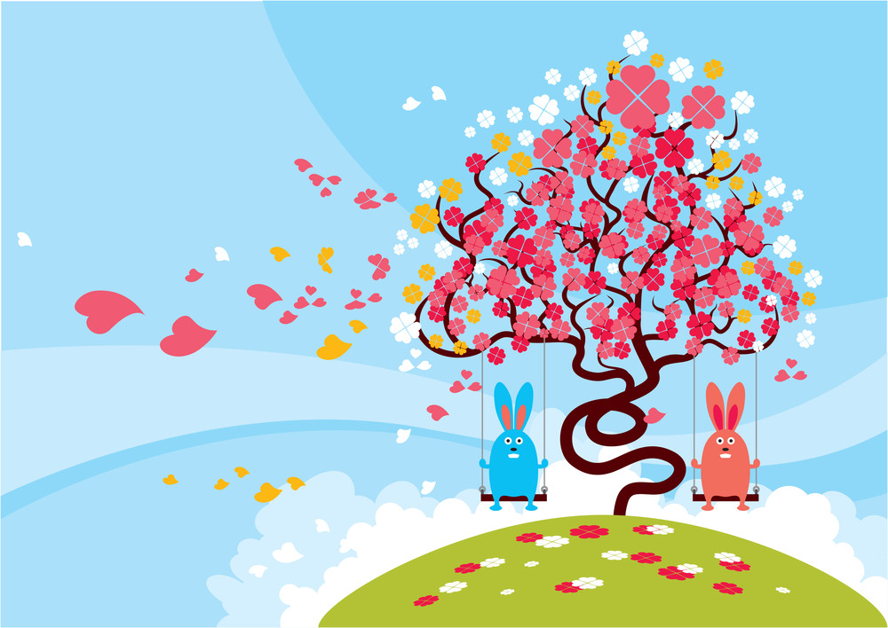 Rabbits On The Swings