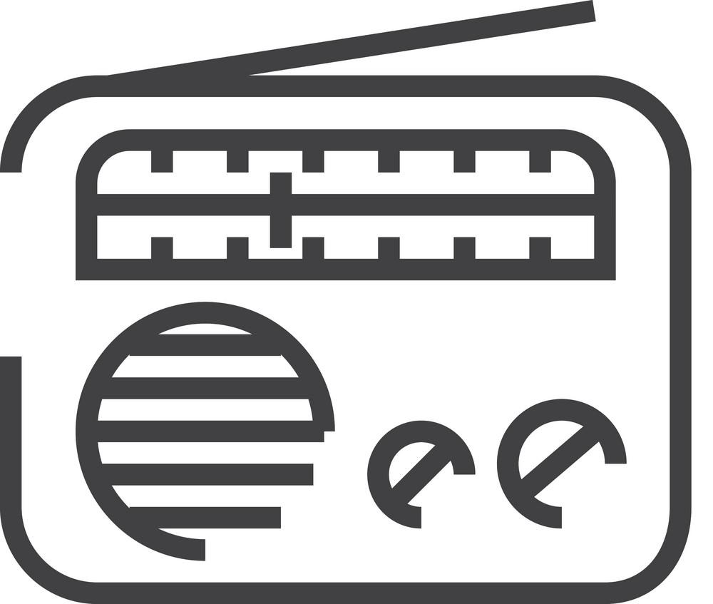 Radio Minimal Icon