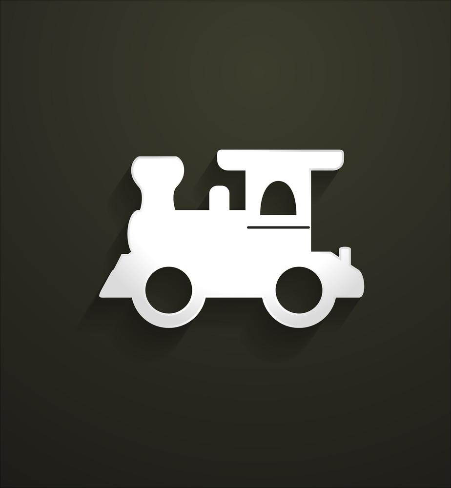 Rail Engine Vector Shape