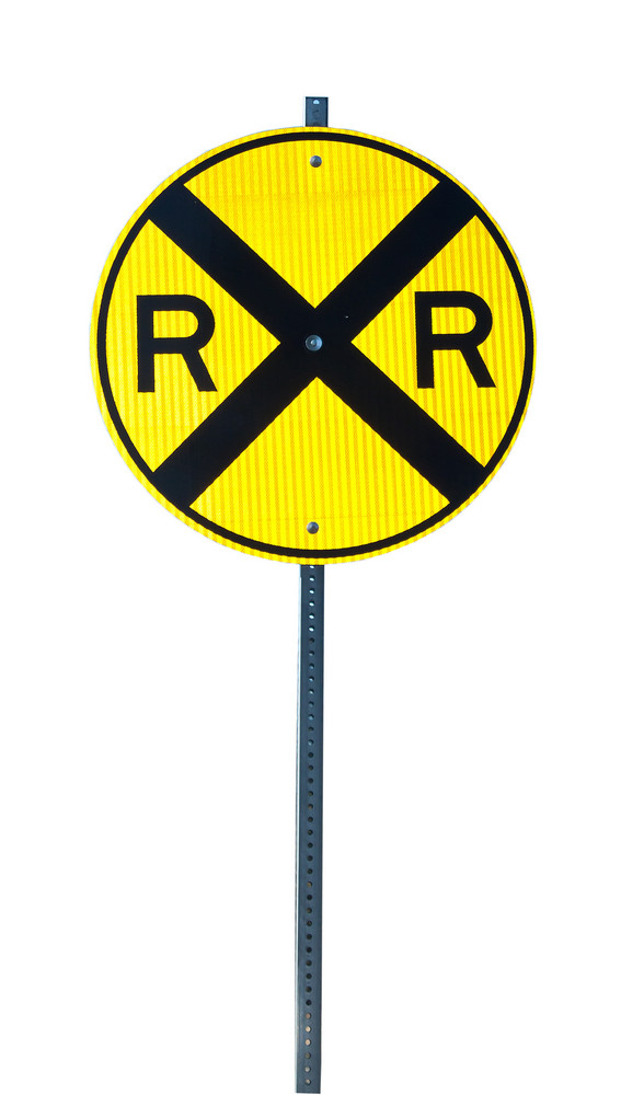 Railroad Crossing Signboard Isolated