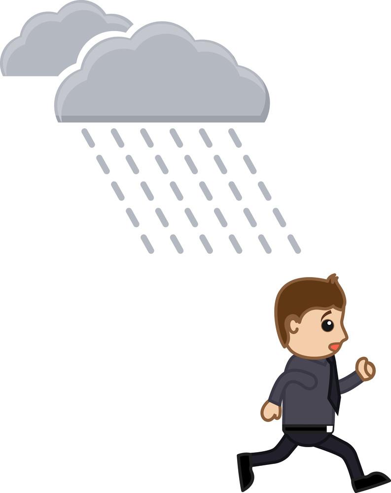 Rain - Cartoon Vector Illusatrtion